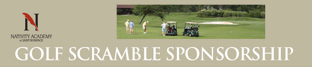 Nativity Golf Scramble Sponsorship Page Header